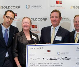 Goldcorp Cheque Presentation