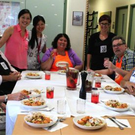 Tanya Leung and Beverley Lau, registered dietitians at St. Paul's, host a cooking class with patients