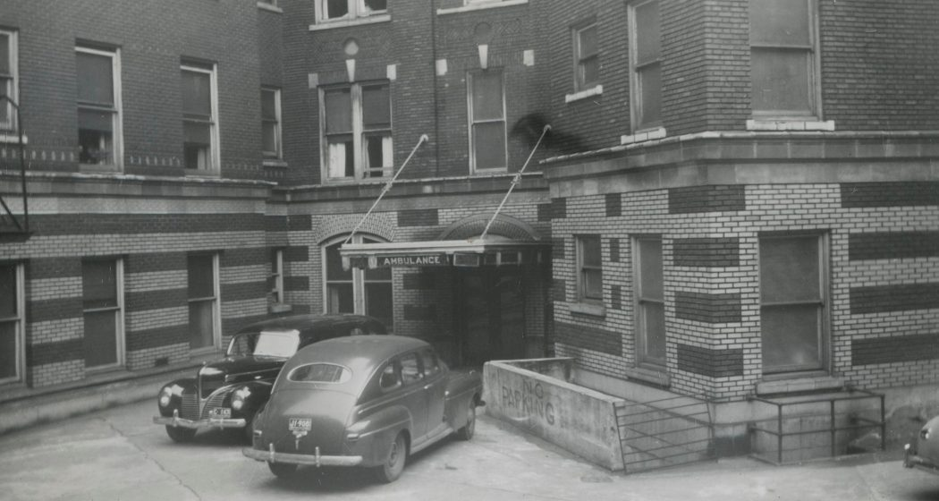 St. Paul's ambulance bay, 1948